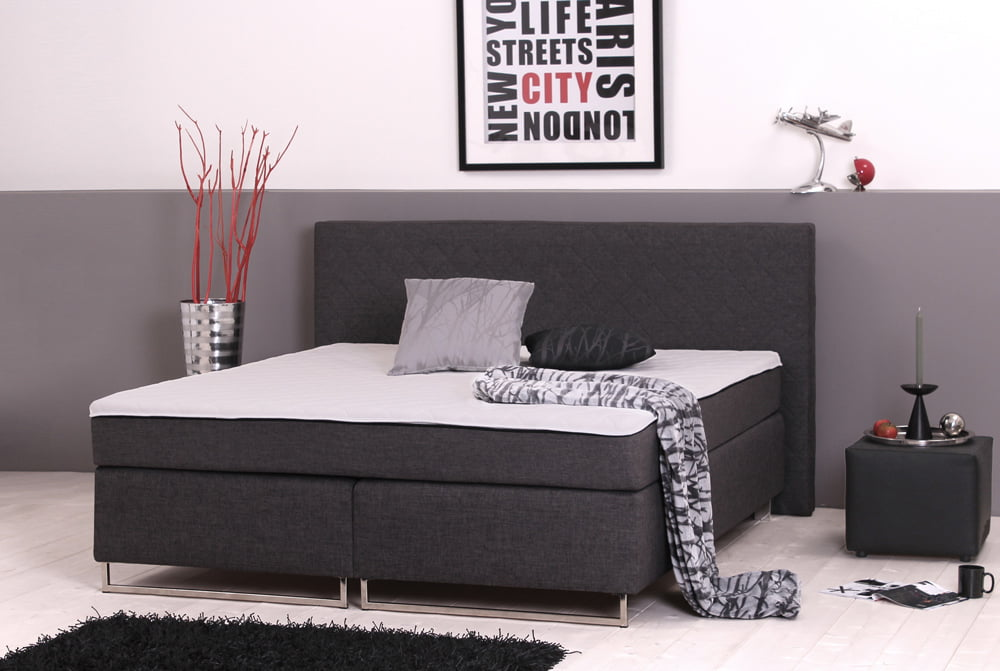 boxspringbett savognin mit integriertem topper 160x200. Black Bedroom Furniture Sets. Home Design Ideas